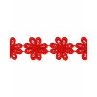 Прочие КП-215-3-30112.004 Кружево плетеное ш.2,5 см красный 100 см