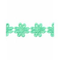 Прочие КП-215-30-30112.030 Кружево плетеное ш.2,5 см мятный 100 см