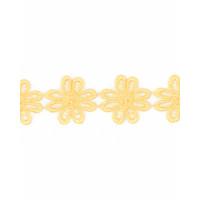 Прочие КП-215-4-30112.002 Кружево плетеное ш.2,5 см желтый 100 см