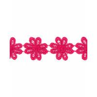 Прочие КП-215-5-30112.001 Кружево плетеное ш.2,5 см фуксия 100 см