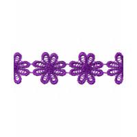 Прочие КП-215-6-30112.025 Кружево плетеное ш.2,5 см фиолетовый 100 см