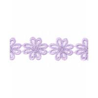 Прочие КП-215-7-30112.028 Кружево плетеное ш.2,5 см сиреневый 100 см