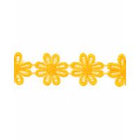 Прочие КП-215-9-30112.024 Кружево плетеное ш.2,5 см желтый 100 см