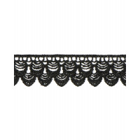 Прочие КП-259-1-33065.001 Кружево плетеное ш.2,5 см черный 100 см