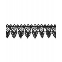 Прочие КП-261-1-33067.001 Кружево плетеное ш.2,7 см черный 100 см