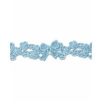 Прочие КП-286-2-34365.002 Кружево плетеное ш.2 см голубой 100 см