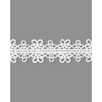 Прочие КП-293-1-34749 Кружево плетеное ш.2,5 см белый 100 см