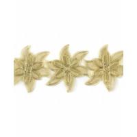 Прочие КРО-123-1-31730.001 Кружево декоративное ш.13 см золотистый 100 см