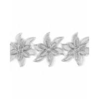 Прочие КРО-123-2-31730.002 Кружево декоративное ш.13 см серебристый 100 см
