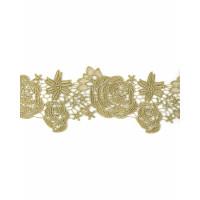 КРО-124-1-31729.001 Кружево декоративное ш.11 см золотистый 100 см