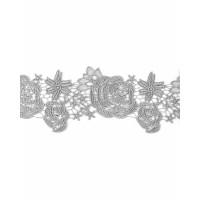 КРО-124-2-31729.002 Кружево декоративное ш.11 см серебристый 100 см