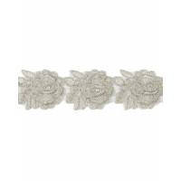 КРО-39-2-6767.001 Кружево декоративное ш.4 см серебристый 100см