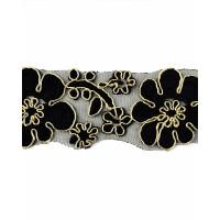 Прочие КРО-81-2-15745.001 Кружево декоративное ш.4,5 см черный 100 см