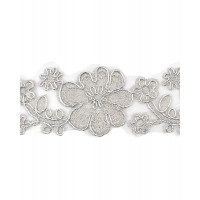 КРО-81-4-15745.003 Кружево декоративное ш.4,5 см серебристый 100 см