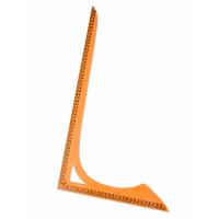 Прочие ЛЕ-57-1-38068 Лекало треугольник р.30x54 см (пластик) оранжевый