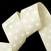 Прочие Лента репсовая в рубчик арт.LDRG81502950 (126) крупный горох 50мм цв.бежевый-белый уп.27,4м Лента репсовая в рубчик арт.LDRG81502950 (126) крупный горох 50мм цв.бежевый-белый уп.27,4м