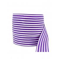 Прочие ЛОРП-61-1-38520 Лента репсовая с рисунком ш.2,5 см фиолетовый 1 метр