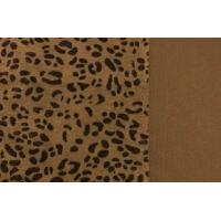 Прочие Мех леопард Мех коротковорсовый жесткий 3мм,  50*50см, 100% п/э, цв.св.леопард