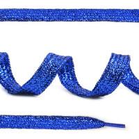 Прочие МГ-10314-1-МГ0683353 Шнурок плоский ш.1см металлизированый дл.120см цв.синий МХ-346S синий