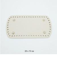 Прочие МГ-106659-1-МГ0958162 Дно для кроссбоди 20х10 см цв.бежевый (нат.кожа)