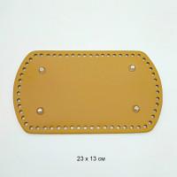 Прочие МГ-107036-1-МГ0958176 Дно для рюкзака 23х13 см цв.горчица (нат.кожа) желтый