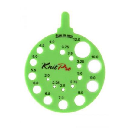 10992 Knit Pro Линейка круглая для определения номера спиц, пластик, зеленый (арт. МГ-19716-1-МГ0181721)