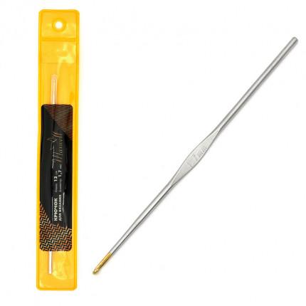Крючок для вязания Maxwell Gold односторонний с золотой головкой никель 1,7мм, 12см (арт. МГ-50408-1-МГ0615558)
