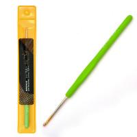 Maxwell MAXW.8206 Крючок для вязания Maxwell Gold односторонний с золотой головкой арт.MAXW.8206, 2,5 мм, никель/зелен