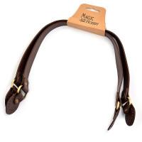 Прочие МГ-66897-1-МГ0739966 Ручка для сумки, иск. кожа, длина 47см, цв.коричневый, уп.2шт цветные