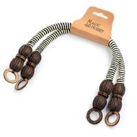 Прочие МГ-66898-1-МГ0739968 Ручка для сумки, вощен.шнур, длина 42см, цв.коричнево/белый, уп.2шт цветные