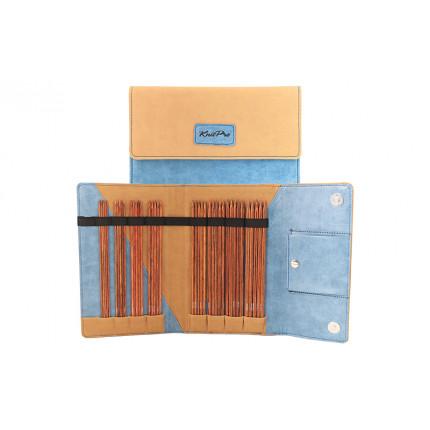 Набор чулочных спиц Knit Pro 31283 20см Ginger (2,5мм, 3мм, 3,5мм, 4мм, 4,5мм, 5мм, 5,5мм, 6мм), дерево / пластик, 8 видов спиц (арт. МГ-82285-1-МГ0761781)