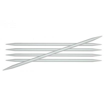 Спицы чулочные Knit Pro 45115 Basix Aluminum 4мм/20см, алюминий, серебристый, 5шт (арт. МГ-82408-1-МГ0762001)