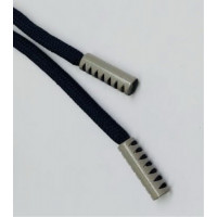 Прочие N0004118 Шнурок 130см черный D580 / серый D 225 , 2135001338888
