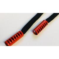 Прочие N0004558 Шнур с декор метал наконечником красный 130см черный ., 2135001334248
