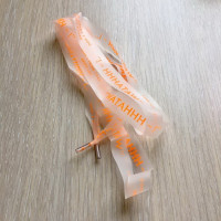 Прочие N0004561 Шнур силиконовый оранжевая надпись 130см ., 2135001310099