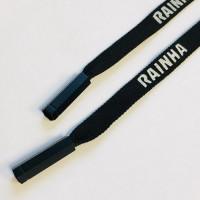 Прочие N0004565 Шнур плоский 130см черный с декор наконечником RAINHA ., 2135001334217