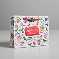 Прочие N0007440 3468989 Пакет ламинированный горизонтальный «Подарок с новогодним настроением», S 5.5 × 15 × 12 см