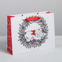 Прочие N0007474 4262353 Пакет ламинированный горизонтальный «Новогодний котёнок», MS 23 × 18 × 8 см
