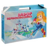 ПЧЕЛКА НП-1-Д Набор для Первоклассника ПЧЕЛКА, для девочек, в подарочной упаковке, 16 предметов, НП-1-Д