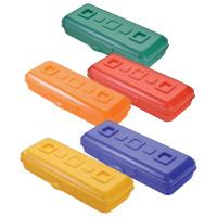 """СТАММ ПН14 Пенал СТАММ """"Премиум"""", пластиковый, непрозрачный, цвет ассорти, ПН14"""