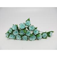 """Прочие Р-05 Ревелюровые цветы """"FomFantasy"""" Р-05 , розы (1,5*1,5 см.)  цв.мятн."""