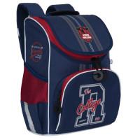 """GRIZZLY RAm-085-1 /2 Ранец GRIZZLY школьный, с сумкой для обуви, анатомическая спинка, """"College"""", 33x25x13 см, RAm-085-1 /2"""