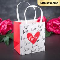 Прочие С0001450 3763436 Пакет ламинированный 'Любовь', белый с красным, люкс, 14,5 х 4 х 13