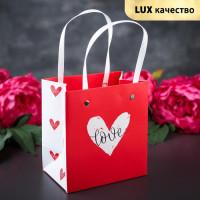 Прочие С0001451 3763437 Пакет ламинированный 'Любовь', красный, люкс, 14,5 х 4 х 13 см