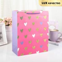Прочие С0001455 3801026 Пакет ламинированный 'Розовое счастье', люкс, 18 х 10 х 23 см