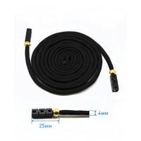 Прочие ШД-151-1-36456 Шнур готовый с наконечниками дл.1,5 м черный