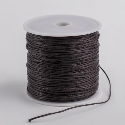 Шнур вощеный d=1мм коричневый (арт. ШД-186-1-37925)