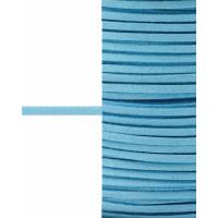Прочие ШД-66-15-30916.005 Шнур замшевый ш.0,3 см голубой 1 метр