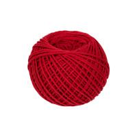 Прочие ШХ1 Нитки Шпагат хлопчатобумажный ШХ1 100% хлопок 1 мм 100 м 109 я красный