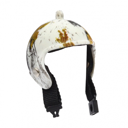Шлем мини AR1189 (черно-белый) 5 см.  AR1189 (арт. Шлем мини AR1189 (черно-белый) 5 см.)